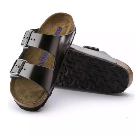 7c10c2ae7e0e Birkenstock arizona metallic anthracite sandals
